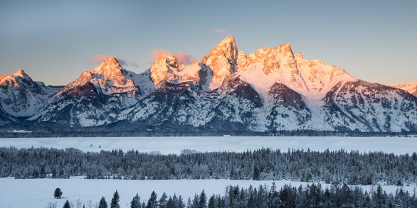 Sunrise at Teton Point